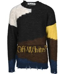 off white distressed jumper