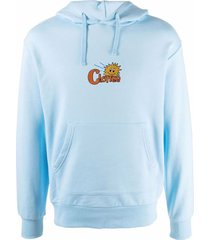 clottee sun embroidered-logo cotton hoodie