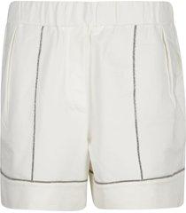 bead applique shorts