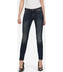 5622 zipper mid skinny jeans