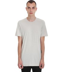 drkshdw level tee t-shirt in beige cotton