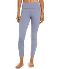 women's free people fp movement solid wave rider pocket leggings, size large - blue