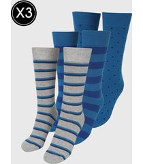 medias x3 azul-gris gap