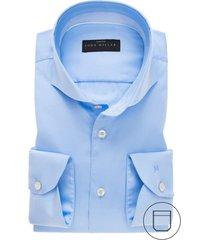 john miller overhemd blauw modern fit stretch