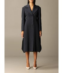 sportmax coat terry sportmax long coat in wool and cashmere with belt