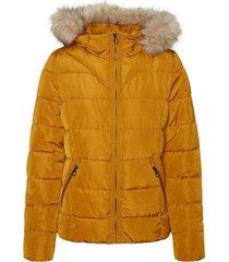 parka jas vero moda 10235389 vmmollie short jacket boos buckthron brown