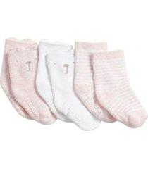calcetines recién nacido 3pack rosa gap