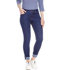 jeans pierna recta liso azul oscuro curvi
