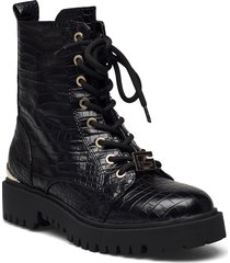 omala shoes boots ankle boots ankle boot - flat svart guess