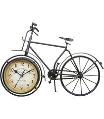 relã³gio kasa ideia bicicleta de mesa 38x58cm - bege - dafiti