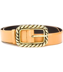 alberta ferretti twisted-effect buckle belt - brown