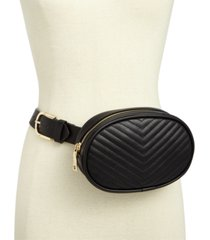 steve madden chevron quilted fanny pack