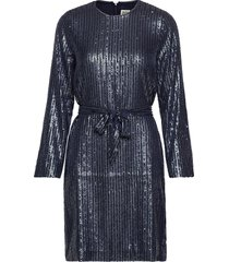 britta sequin dress korte jurk blauw twist & tango