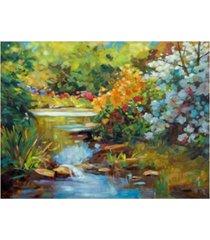 "david lloyd glover exbury spring lake canvas art - 37"" x 49"""