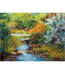 "david lloyd glover exbury spring lake canvas art - 37"" x 49"""