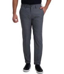 kenneth cole reaction men's slim-fit grid pattern dress pants