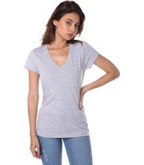 remera gris vov jeans escote v