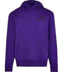 river island mens purple japanese back print slim fit hoodie