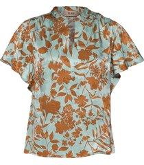 renata stencil blouse blouses short-sleeved multi/patroon mos mosh