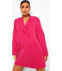 oversized boxy blazer jurk, bright pink