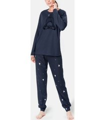 mood pajamas sleepy dog ultra soft women's pajama set