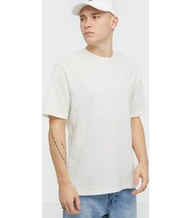 selected homme slhoversizemalcolm ss o-neck tee w t-shirts & linnen offwhite