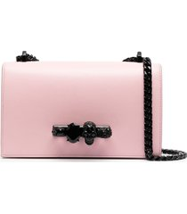 alexander mcqueen knuckle duster shoulder bag - pink