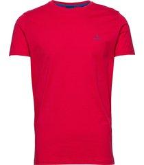 contrast logo ss t-shirt t-shirts short-sleeved röd gant