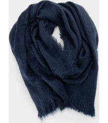 cici brushed blanket scarf - navy