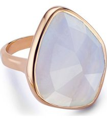 rose gold siren nugget cocktail ring blue lace agate