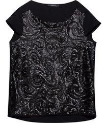 topp semi shiny sequ blouse