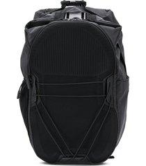 camper lava buckled backpack - black