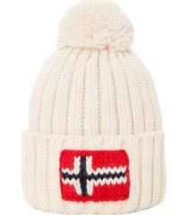 cappello napapijri n0ygse 002 bright white