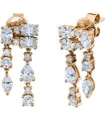 18k rose gold diamond maya earrings