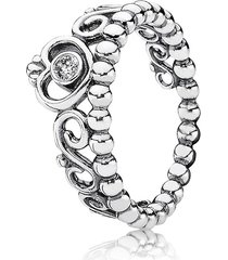 925 sterling silver princess tiara ring for women