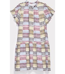 loft striped tiered flounce dress