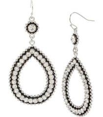 """jessica simpson stone teardrop gypsy hoop earrings, 2.75"""""""
