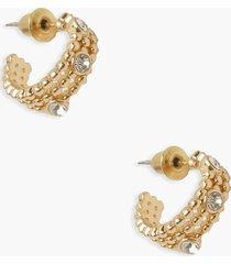 gekruiste ronde oorbellen, gold