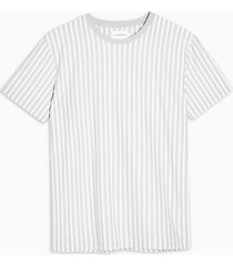 mens grey and white vertical stripe t-shirt