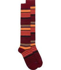altea striped mid-length socks - red