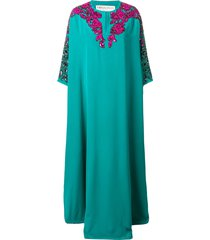 emilio pucci embellished kaftan dress - green