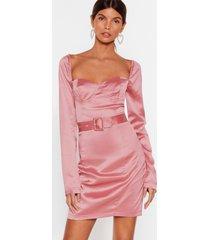 womens holdin' onto hope satin mini dress - rose