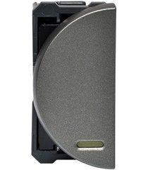 módulo de interruptor simples superior para led arteor 250v 16a magnésio
