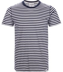 norse projects niels classic stripe t-shirt - dark navy & white n01-0372