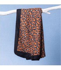 lenço graziela cor: marrom - tamanho: único
