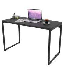 mesa de escritório office 120cm estilo industrial prisma preto onix - mpozenato