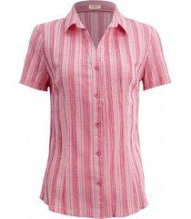 camisa intens manga curta algodã£o coral - vermelho - feminino - dafiti