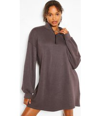 oversized sweat dress, washed black