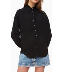 blusa regular relaxed negro calvin klein
