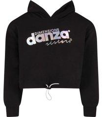 dimensione danza black sweatshirt with logo for girl